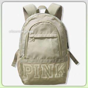 VS Pink Collegiate Backpack Shale Green Bookbag